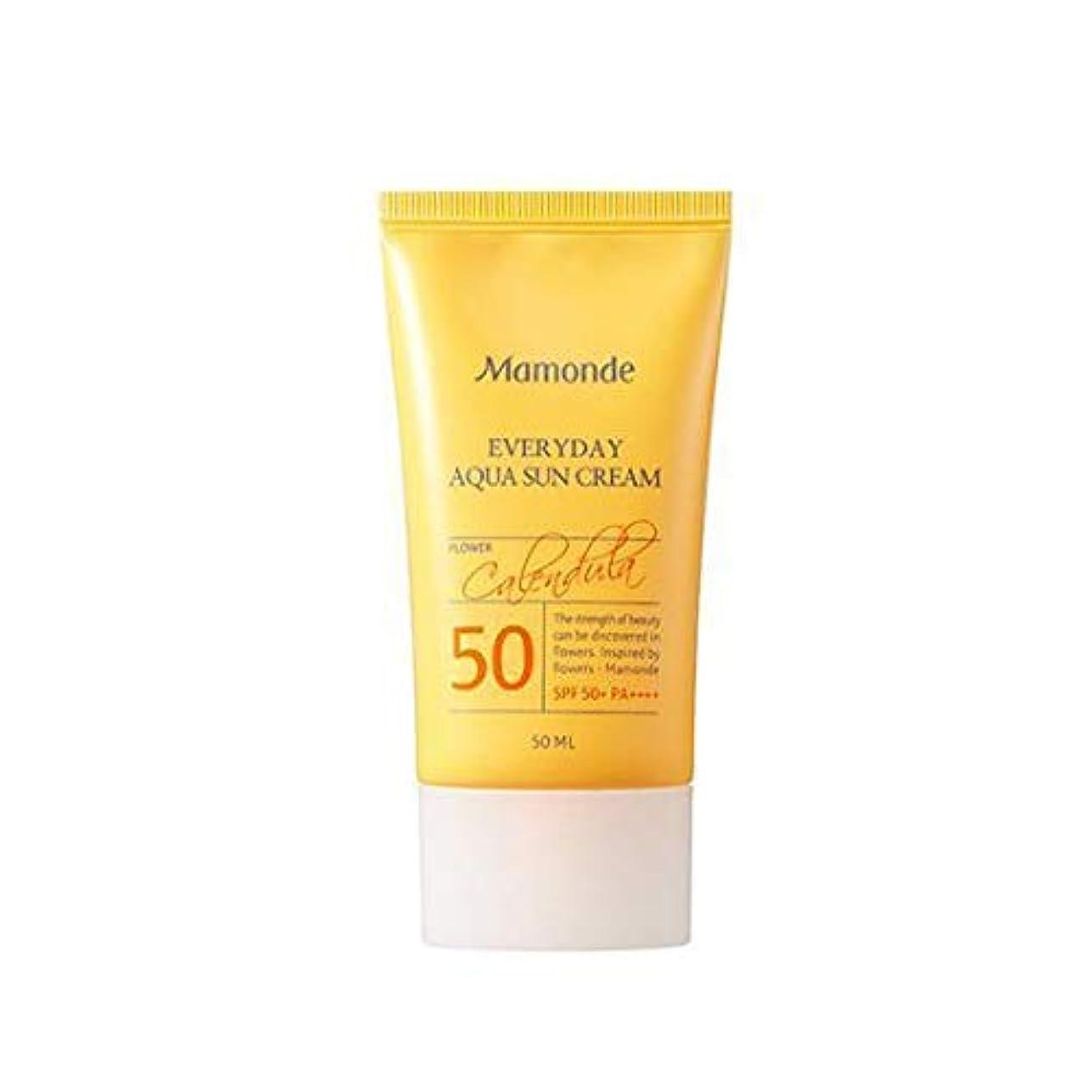 優れた強打コインランドリーMAMONDE マモンド エブリデイアクアサンクリーム (50ml),SPF50+PA++++ Everyday Aqua Sun Cream 韓国日焼け止め