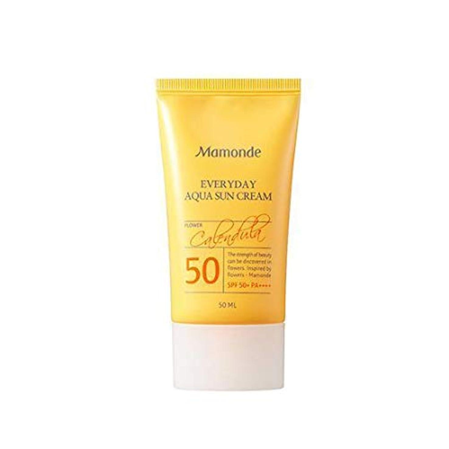 薄汚いアナニバー顎MAMONDE マモンド エブリデイアクアサンクリーム (50ml),SPF50+PA++++ Everyday Aqua Sun Cream 韓国日焼け止め