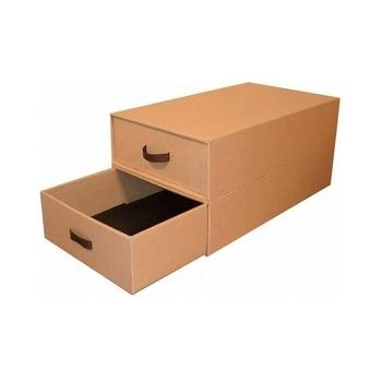 ブーツ収納ボックス【5個セット】ダンボール収納【完成品】【組立不要】