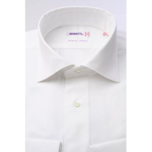 (スキャッティ) SCHIATTI 白 ロイヤルオックス ワイドカラー(細身)【特別価格】ドレスシャツwd2530f-L(41-85)