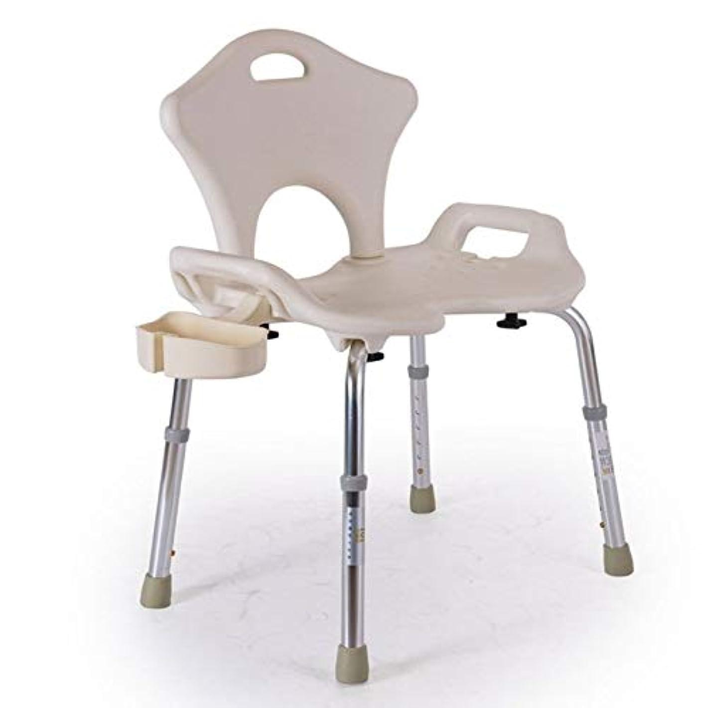 正規化固体肥沃な浴室の椅子、アルミニウム合金の折り畳み式滑り止め風呂椅子