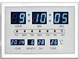【スマートデジタルクロック】【ホワイト】時計 壁掛け時計 デジタルクロック 壁掛け LED時計 デジタル時計 LED インテリア時計 温度計 デジタル インテリア雑貨 シンプル時計