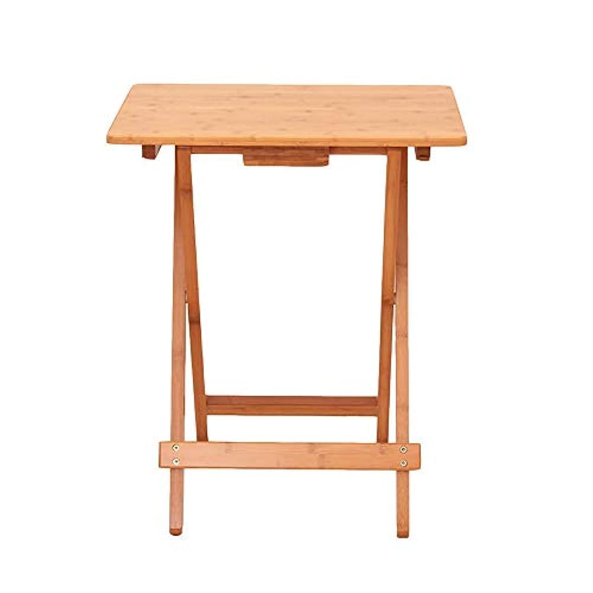 人形数学的な適度にLJHA zhuozi 折りたたみテーブル、ティーテーブルホーム折りたたみテーブルポータブルラップトップテーブル小さなテーブル屋外木材 (色 : A)
