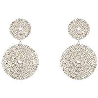 Colette Hayman - Diamante Double Rounded Drop Earrings