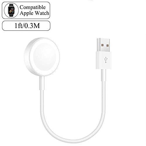Apple watch 充電ケーブル アップルウォッチ充電 短い0.3Ⅿ series1/2/3/4/5に対応 専用磁気 携帯便利
