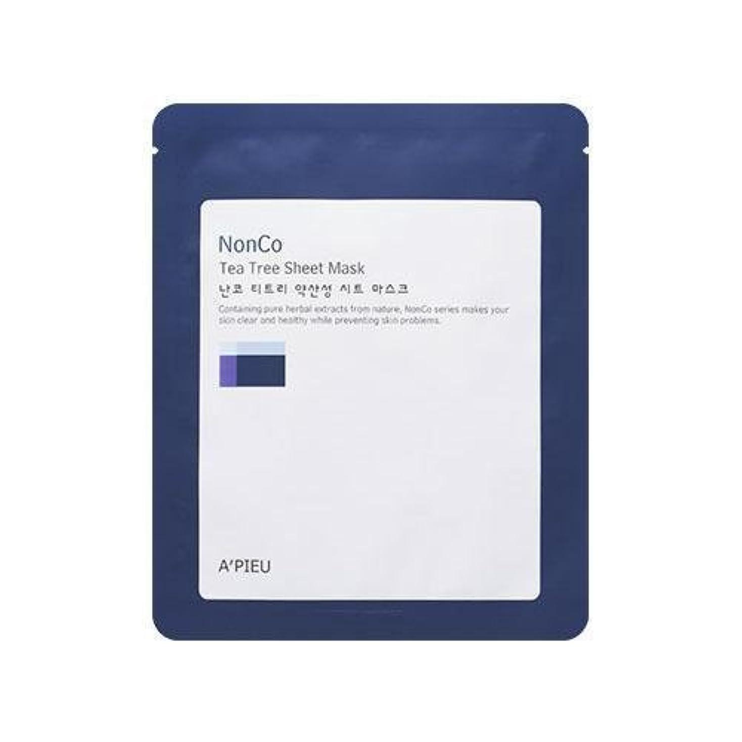 発生する完全に乾く組み合わせるAPIEU Nanco Tea Tree Sheet Mask (3EA)/ Made in Korea