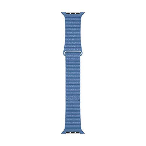 Apple Watch (44mm)ケース用コーンフラワーレザーループ - M