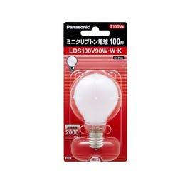パナソニック ミニクリプトン電球 ホワイト E17口金 45ミリ径 100形 LDS100V90WWK