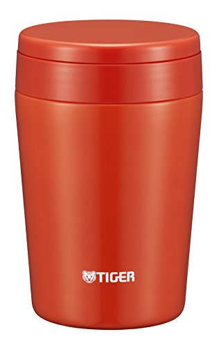 タイガー 魔法瓶 真空 断熱 スープ ジャー 380ml 保温 弁当箱 広口 まる底 チリレッド MCL-B038-RC Tiger