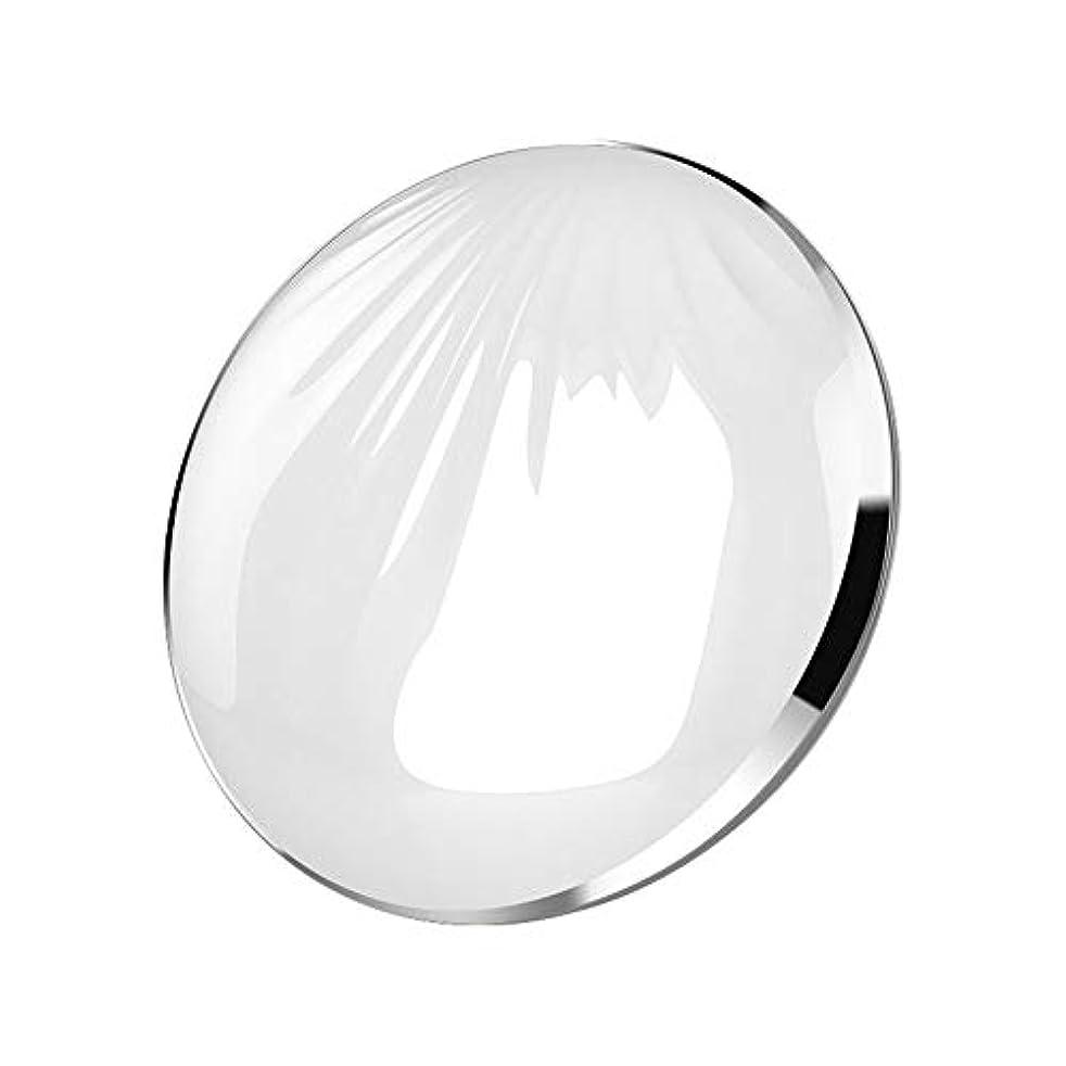 バッテリー半導体恐怖流行の クリエイティブled化粧鏡シェルポータブル折りたたみ式フィルライトusbモバイル充電宝美容鏡化粧台ミラーピンクシルバーコールドライトウォームライトミックスライト (色 : Silver)