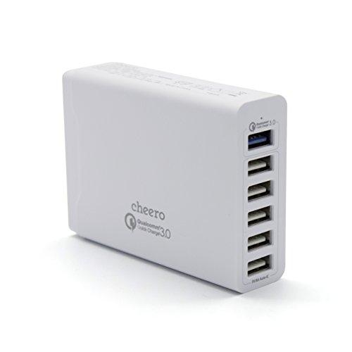 cheero 6 USBポート AC アダプタ 急速充電器 (QC3.0:1...