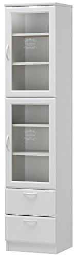 RoomClip商品情報 - 白井産業 【SHIRAI】 食器棚 カップボード スキマ幅40cm セシルナ CEC-1840WGH CEC-1840WGH