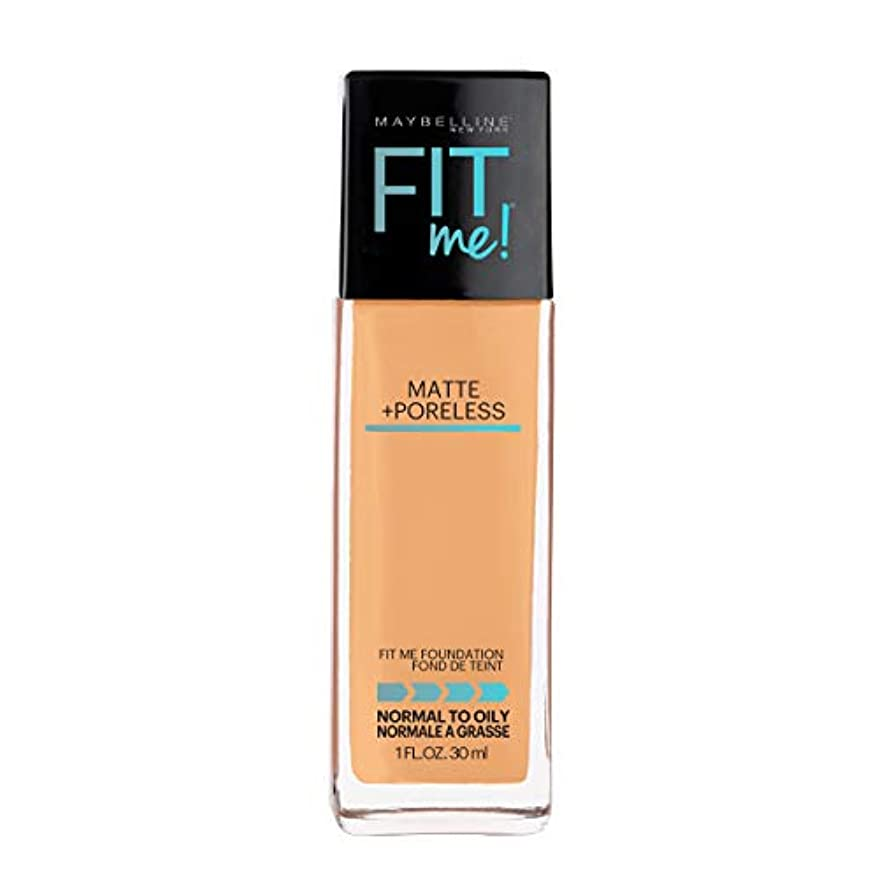 チロ代わりのタイプMaybelline New York Fit ME Matte with Poreless Foundation, 332 Golden Caramel, 30g
