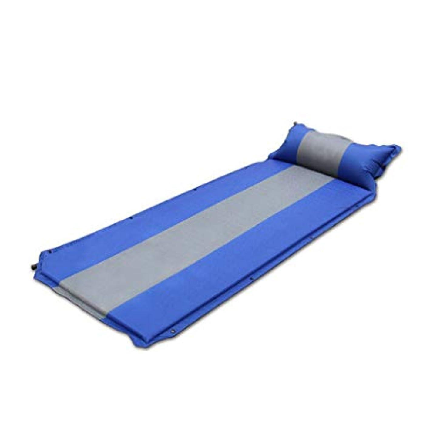 障害自分の存在自動インフレータブルクッション拡大シングルマット屋外肥厚拡大ピクニックマットキャンプテントシエスタマットベッド、187×67×3.5センチ (Color : A)
