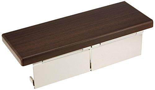 RoomClip商品情報 - TOTO 二連紙巻器 棚付き(木質) ステンレス製 ダルブラウン YH402FW#MW