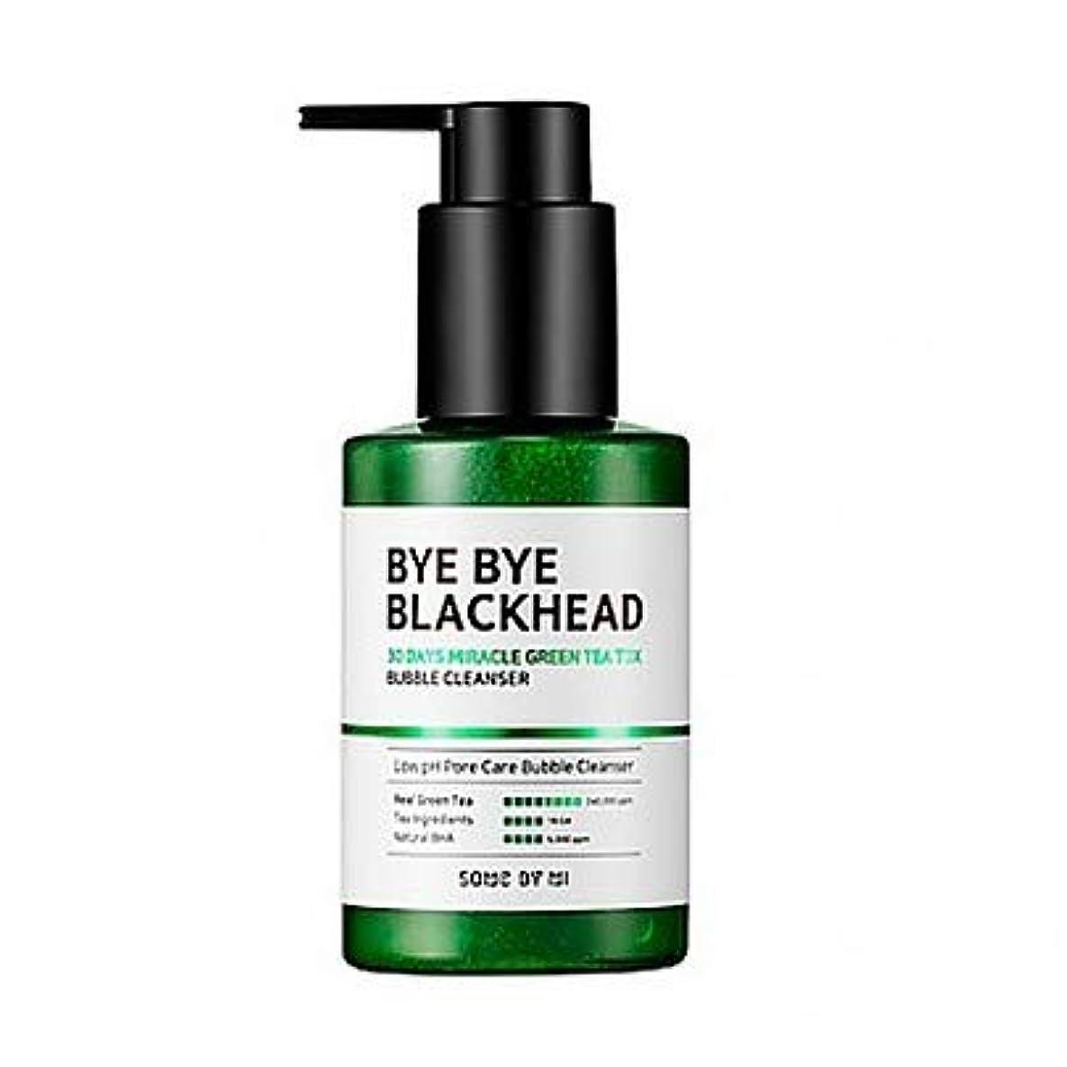 チーフサスペンド親指[SOME BY MI] BYE BYE BLACKHEAD 30DAYS MILACLE GREEN TEA TOX BUBBLE CLEANSER 120g / [サムバイミー] バイバイブラックヘッド30DAYS...
