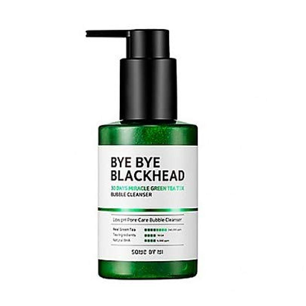 頬骨登場デコレーション[SOME BY MI] BYE BYE BLACKHEAD 30DAYS MILACLE GREEN TEA TOX BUBBLE CLEANSER 120g / [サムバイミー] バイバイブラックヘッド30DAYS...