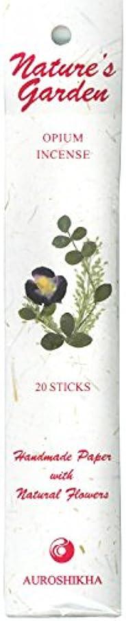 繁栄雑多な一貫したAUROSHIKHA オピウム香 (ネイチャーガーデンシリーズ)