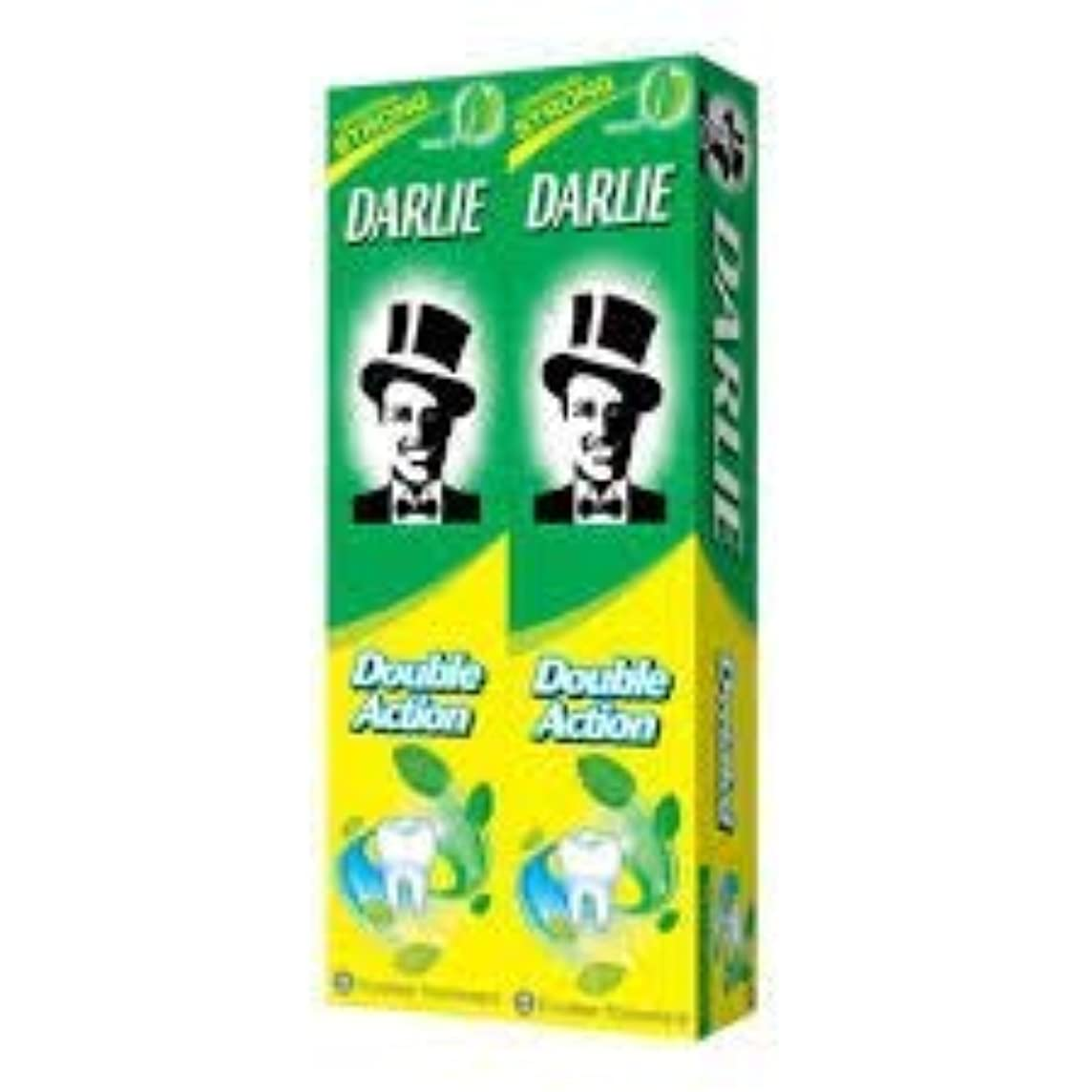 腹作成する刈り取るDARLIE 歯磨き粉2×225gの複動GWPは、より永続的な新鮮な息12時間-gives - 口腔細菌を減少させるのに有効