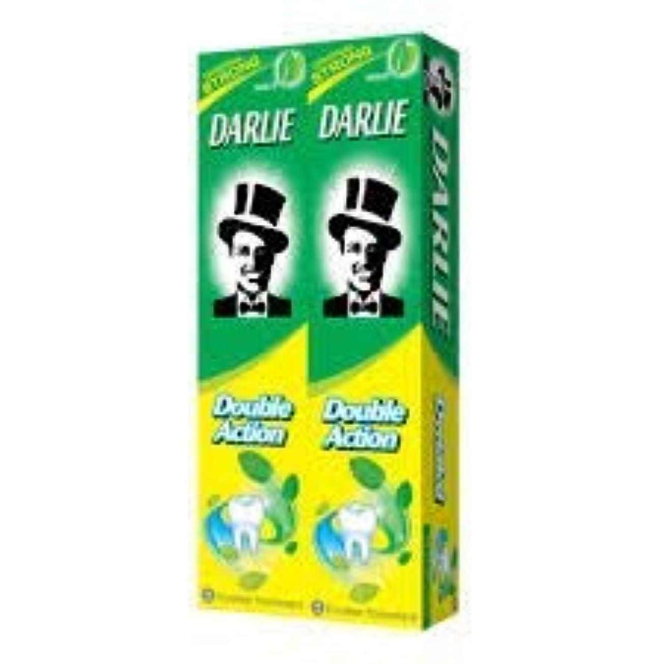 プレミアムまたはどちらか持続するDARLIE 歯磨き粉2×225gの複動GWPは、より永続的な新鮮な息12時間-gives - 口腔細菌を減少させるのに有効