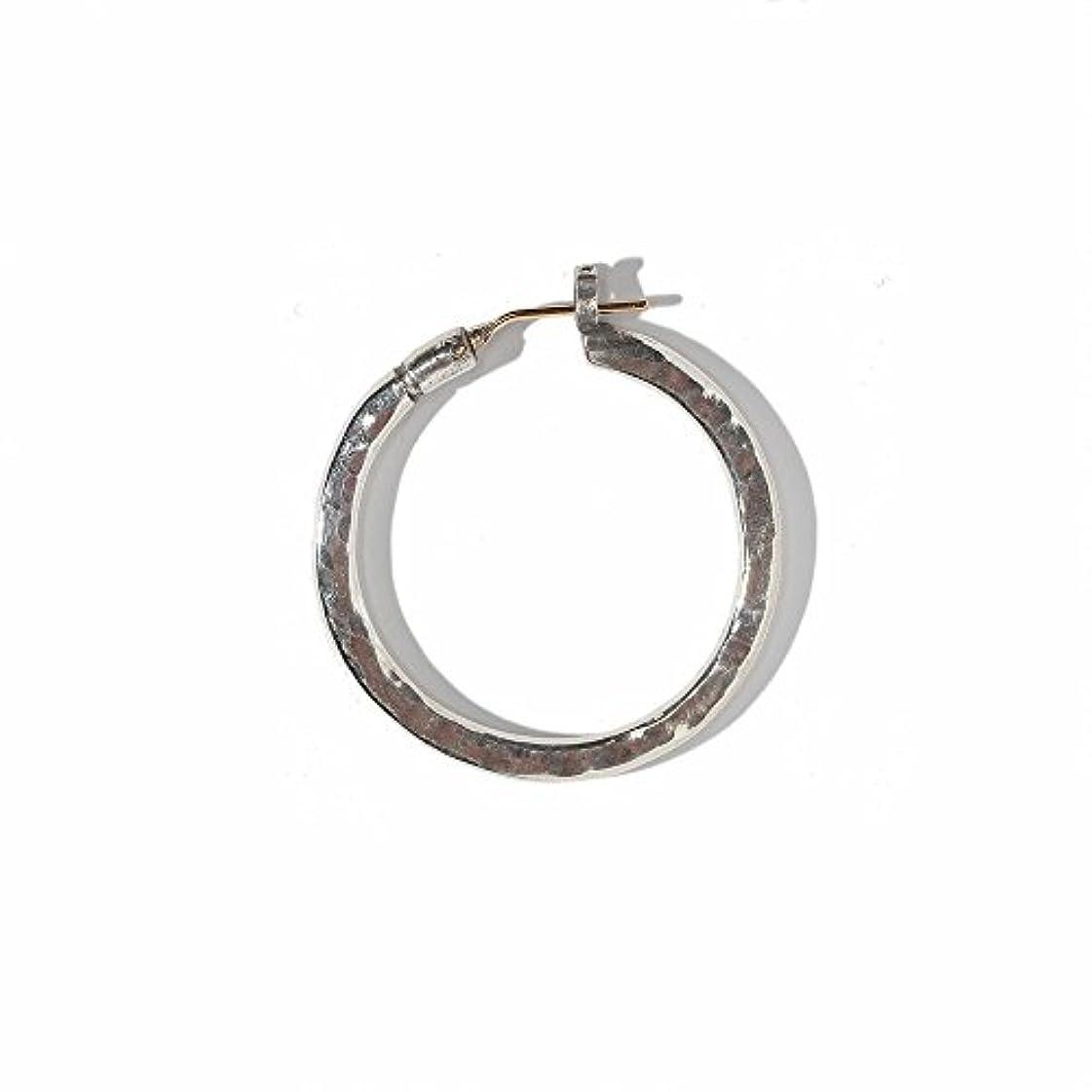 頑張るベルト魅力的VIVIFY ビビファイ フープ ピアス シルバーK18goldpost Hammered Hoop Pierce(XL) (ONE SIZE)