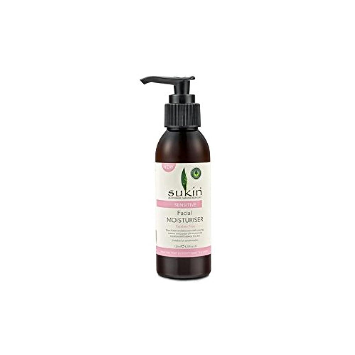 松の木キルトがっかりする敏感な顔の保湿剤(125ミリリットル) x4 - Sukin Sensitive Facial Moisturiser (125ml) (Pack of 4) [並行輸入品]