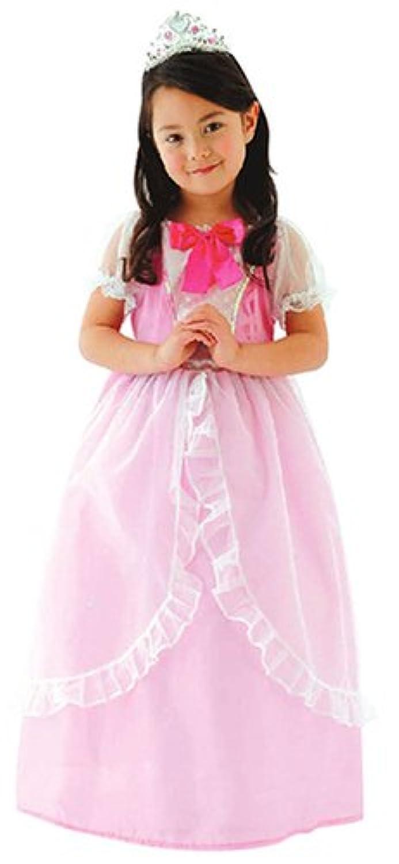 プリティシンデレラ プリンセスドレス キッズコスチューム ピンク 女の子