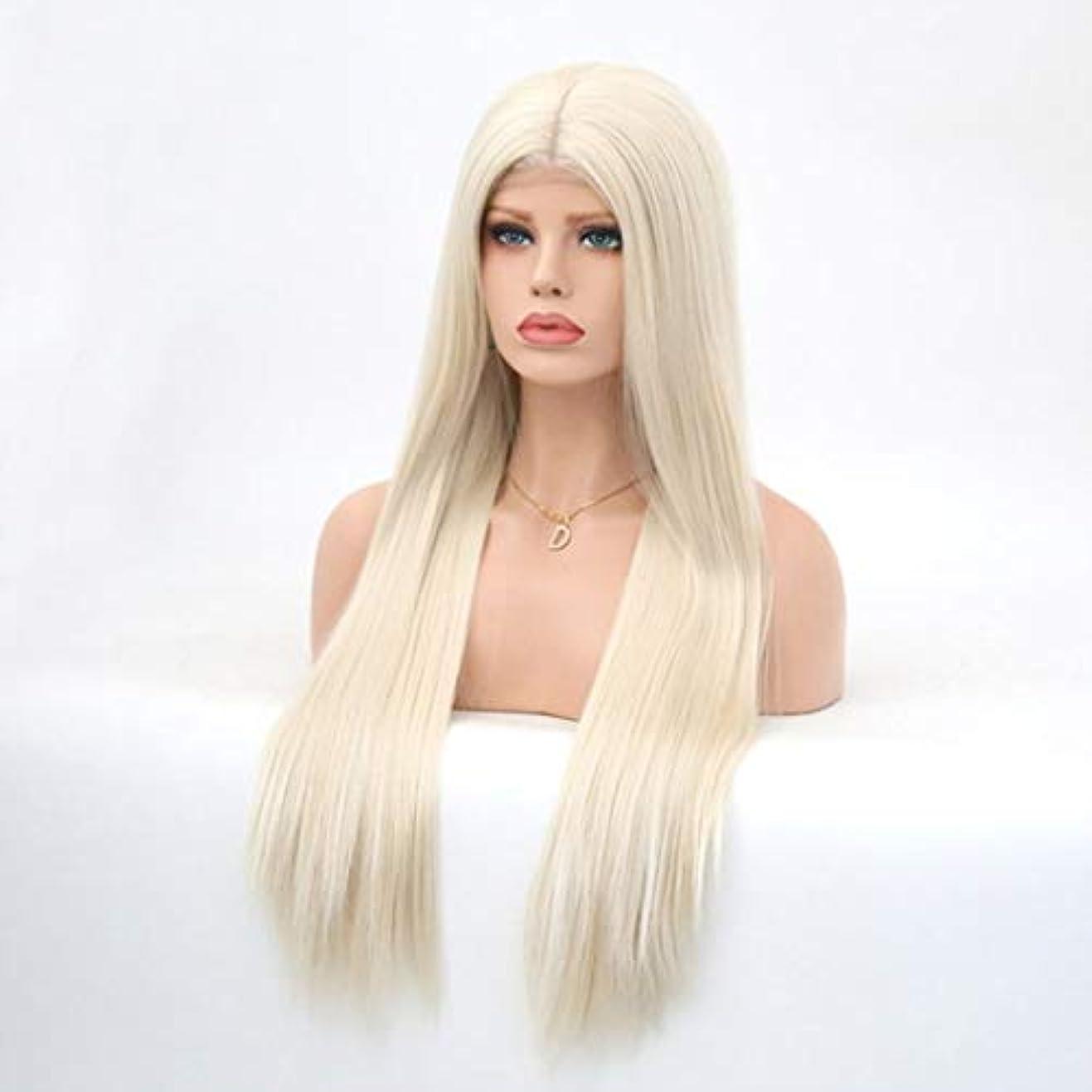 従う抜け目のない目的Summerys レディースシルクロングストレートブラックウィッグ耐熱合成かつら前髪付きウィッグ女性用ウィッグ
