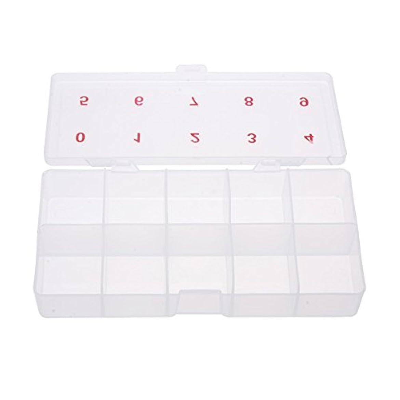 反応する王朝円形のGaoominy 2 x 5プラスチックネイルアートチップセル空ストレージボックスケースツールホワイト