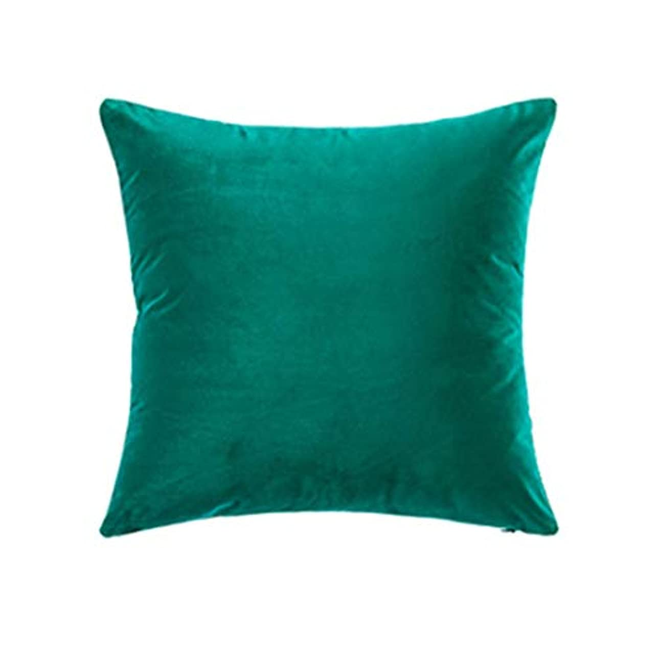 不変テレマコスカートン無地枕、装飾スロー枕ケースクッションベルベットクッション枕18 X 18インチ、1つのピースカバー,Green6