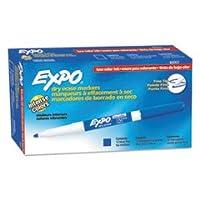 Low Odor Dry Eraseマーカー、細かい点、ブルー、ダース、合計12DZ , Sold as 1カートン