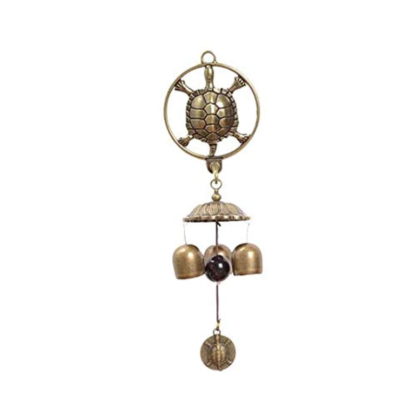 ポーンジャンル睡眠風チャイム、3つの純銅ベル、ホームデコレーション、メタル自吸式風チャイム、 (Color : 1, Size : 25cm)