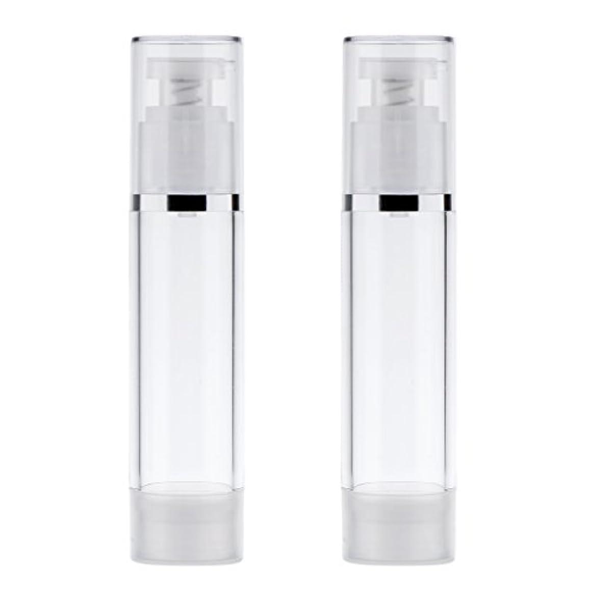 回転するエレメンタルスチュアート島2個 ポンプボトル ポンプチューブ エアレスボトル ディスペンサー コスメ 詰替えボトル 旅行小物 出張 3サイズ選べる - 50ml