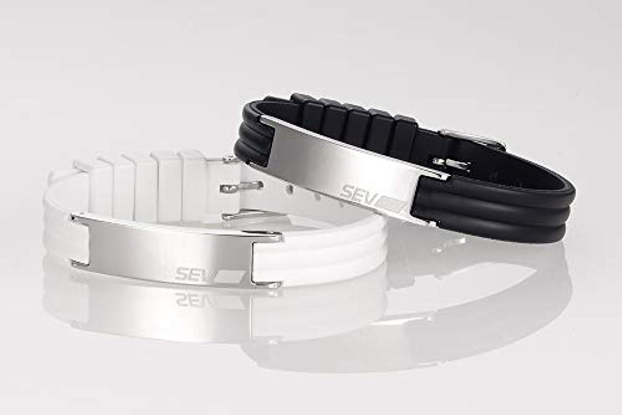 アサー店主気性SEV(セブ)ラインブレスレット2 Lサイズ ブラック HEACF-00600N