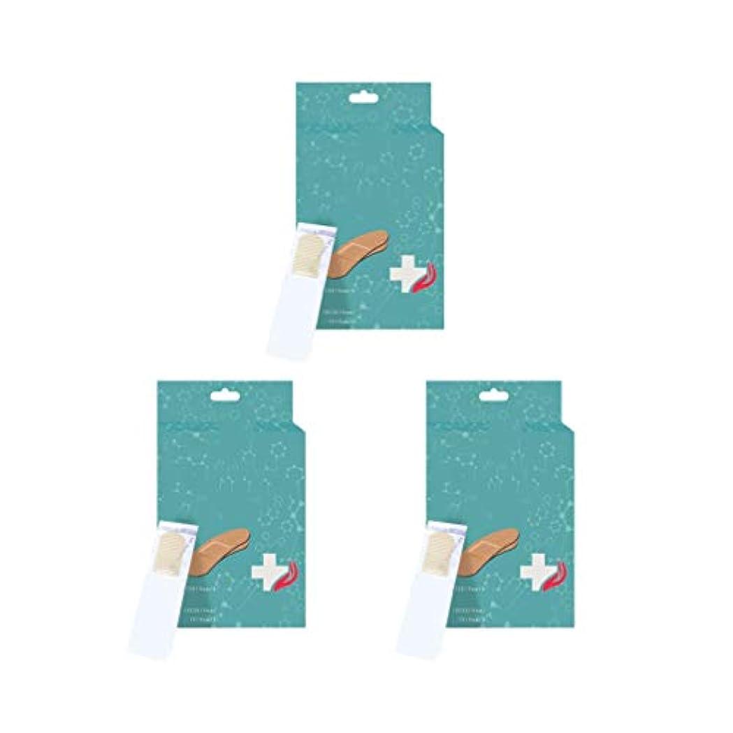 訴える四面体抑制するSUPVOX 3箱のバンドエイド防水通気性弾性耐久性のある実用的な創傷パッチバンドエイド家庭用屋外用包帯(顔色)