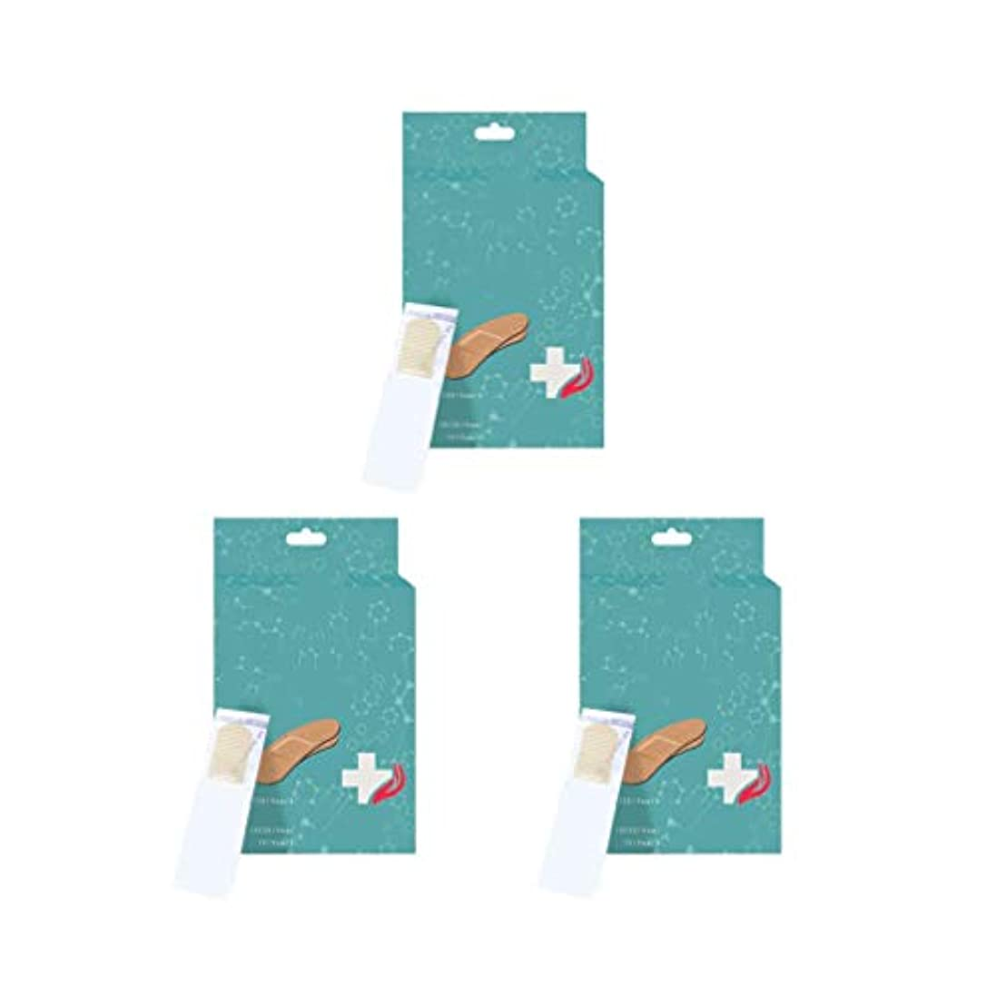 荒涼とした細胞SUPVOX 3箱のバンドエイド防水通気性弾性耐久性のある実用的な創傷パッチバンドエイド家庭用屋外用包帯(顔色)