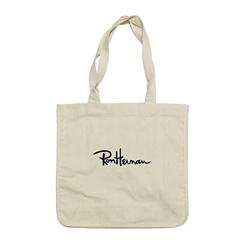 Ron Herman ロンハーマン トートバック ショルダー ショルダーバッグ ミニトートバッグ 帆布 ロゴ 刺繍 男女兼用 全四色 (ホワイト)