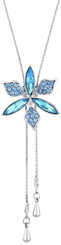 (ネオグロリー)Neoglory Jewelry 花 長い 2つのスタイルがある エレガント ファッション 人気 女性 レディース チャーム ラリエット クリスタル ラインストーン ジュエリー アクセサリー