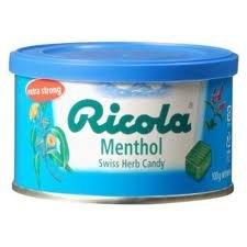【リコラハーブキャンディー】【スイス土産】リコラ100g缶メントールハーブキャンディー