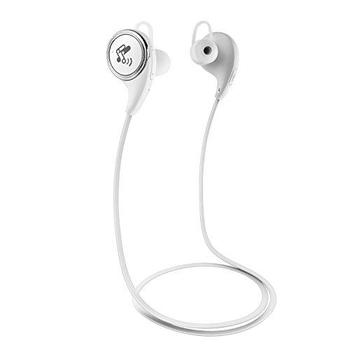 SoundPEATS(サウンドピーツ) QY8 Bluetooth イヤホン 高音質 apt-X対応 マイク付き ブルートゥース イヤホン ホワイト