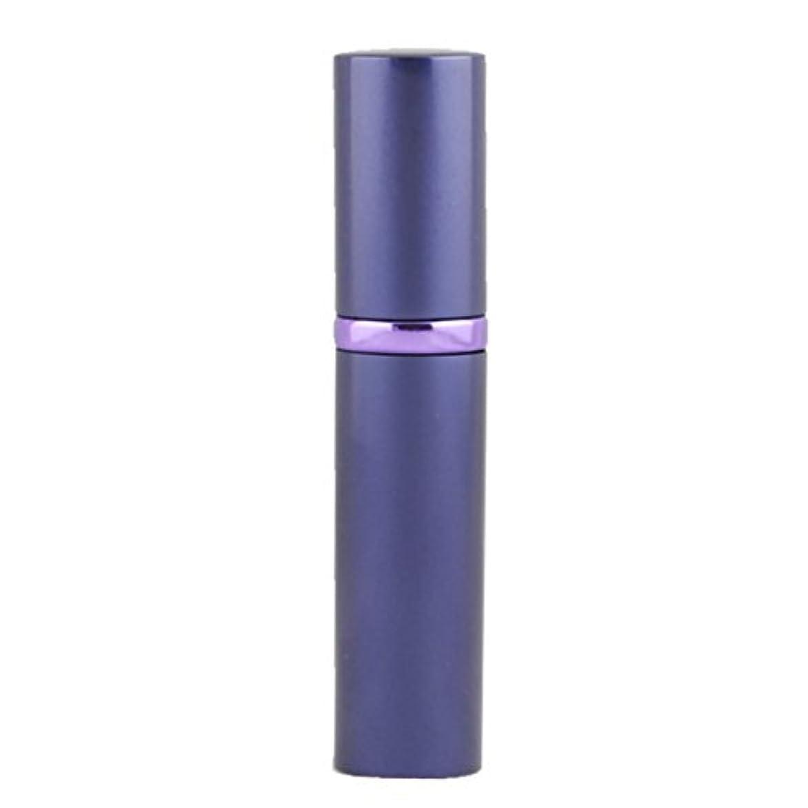 コテージ図書館ミニアトマイザ- 詰め替え AsaNana ポータブル クイック 香水噴霧器 携帯用 詰め替え容器 香水用 ワンタッチ補充 香水スプレー パフューム Quick Atomizer プシュ式 (パープル Purple)