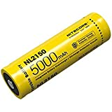 Nitecore NL2150 Unisex Adult Battery, Yellow, 76 mm