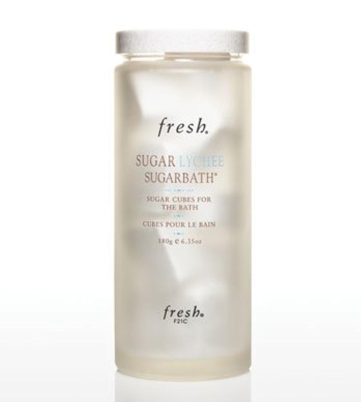 複雑な乳製品おとこFresh SUGAR LYCHEE SUGARBATH CUBES (フレッシュ シュガーライチ シュガーバスキューブ) 6.3 oz (180g) by Fresh for Women