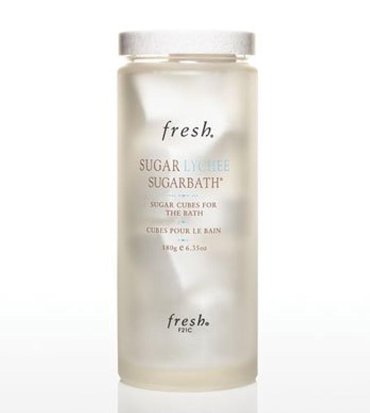 液化するアーカイブ火傷Fresh SUGAR LYCHEE SUGARBATH CUBES (フレッシュ シュガーライチ シュガーバスキューブ) 6.3 oz (180g) by Fresh for Women