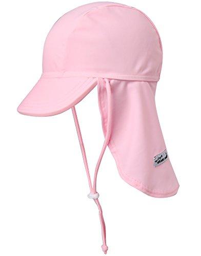 VaenaitBabyベビー子供水着日焼け予防UVカットフラップキャップ帽子LightPinkS