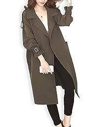 [フェイミー] トレンチ コート 前開き ポケット付き オープンスタイル アウター 2カラー M ~ 2XL レディース
