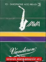 CAムAS SAXOFON ALTO - Vandoren Java (Caja Verde Claro) (Dureza 2) (Caja de 10 Unidades)
