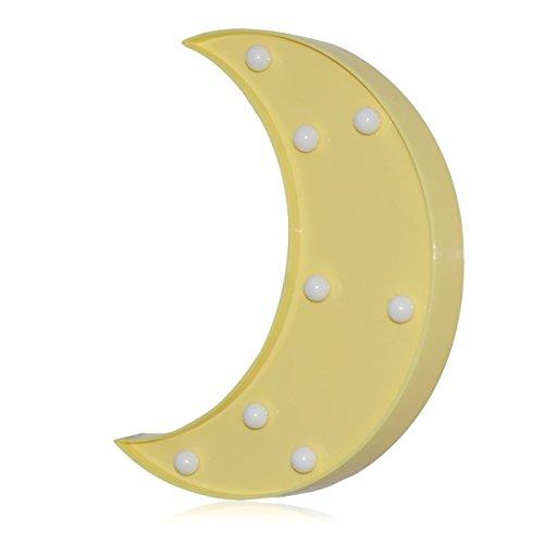LED ベッドサイトランプ イルミネーションライト ホームイベント インテリア ギフト (イエロー月)