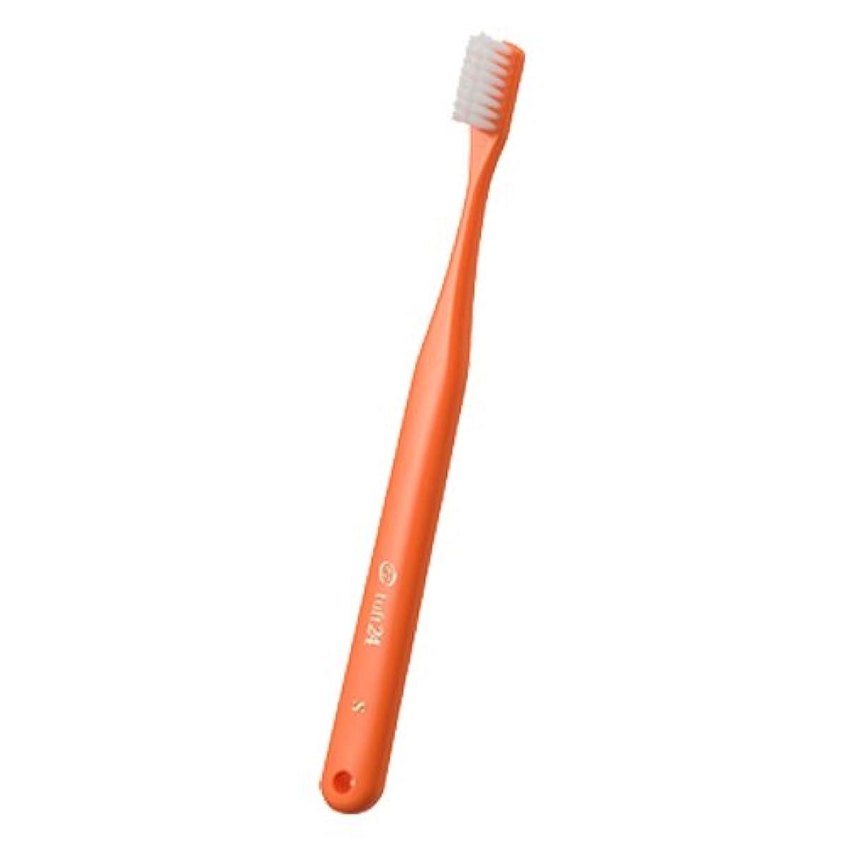 辞書程度クリープオーラルケア タフト 24 歯ブラシ キャップなし 1本 (ミディアムソフト(MS)オレンジ)