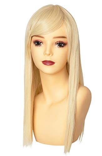 ウィッグ フルウィッグ コスプレ ミディアム セミロング 耐熱 I型つむじ ミルキーゴールド (Belle Wig)